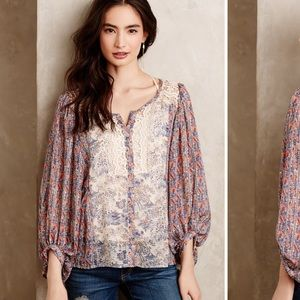 Chinoiserie Peasant Blouse by HD in Paris